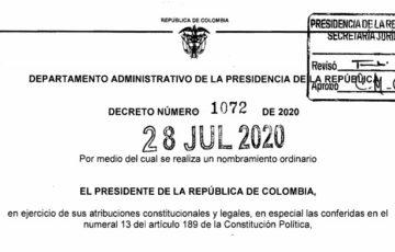 Decreto 1072 del 28 de julio de 2020