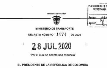 Decreto 1074 del 28 de julio de 2020
