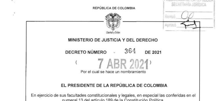 Decreto 364 del 7 de abril de 2021