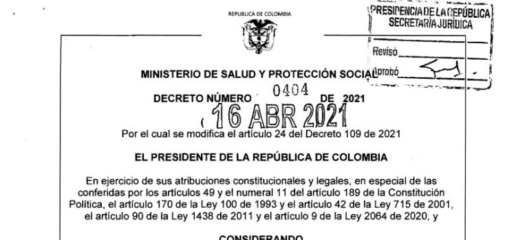 Decreto 0404 del 16 de abril de 2021