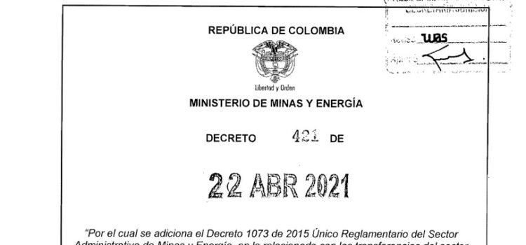 Decreto 421 del 22 de abril de 2021