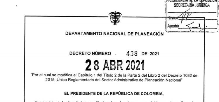Decreto 438 del 28 de abril de 2021