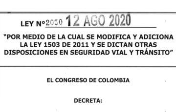 LEY 2050 DEL 12 DE AGOSTO DE 2020