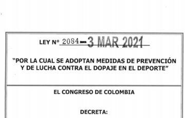 LEY 2084 DEL 03 DE MARZO DE 2021
