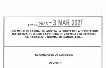 LEY 2085 DEL 03 DE MARZO DE 2021