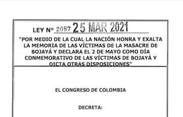LEY 2087 DEL 25 DE MARZO DE 2021