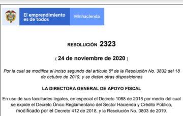 Resolución 2323 del 24 de noviembre de 2020
