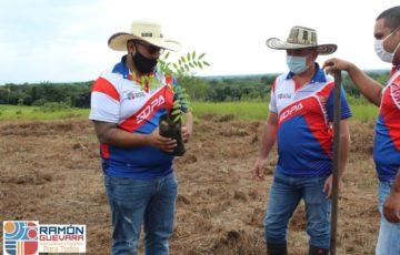 Jornada de reforestación en los predios de protección de la Laguna la María en San José del Guaviare