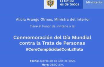 Pacto Nacional en la lucha contra la Trata de Personas