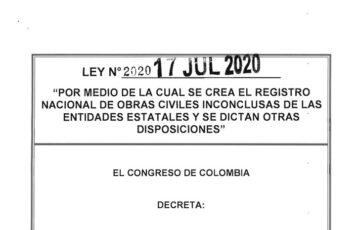 LEY 2020 DEL 17 DE JULIO DE 2020
