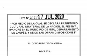 LEY 2021 DEL 17 DE JULIO DE 2020
