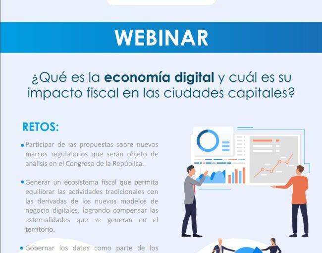 ¿Qué es la economía digital y cuál es su impacto fiscal en las ciudades capitales?