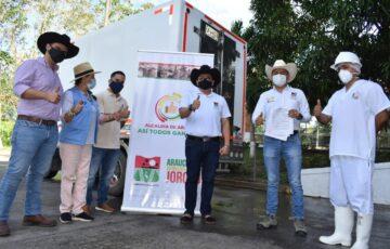 Alcalde de Arauca, Édgar Fernando Tovar Pedraza, dio apertura al envío de carne en canal al interior del país desde la Planta de beneficio animal Frigomatadero de Arauca