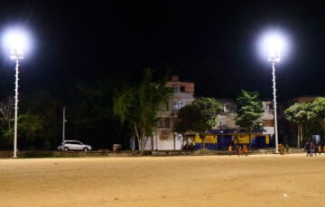 Alcaldía de Bucaramanga modernizó la iluminación de la emblemática cancha del Mutis