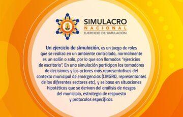Alcaldía de Arauca, a través de la Oficina de Gestión del Riesgo de Desastres, invita a vincularse al próximo 'Simulacro Nacional'