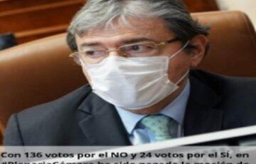Cámara de Representantes niega la moción de censura contra el Ministro de Defensa