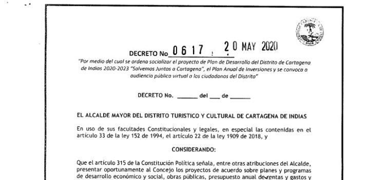 Cartagena_Plan de Desarrollo Municipal_2020-2023