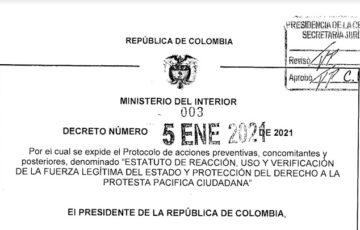 Decreto 003 del 5 de enero de 2021