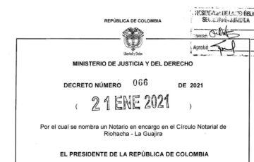 Decreto 066 del 21 de enero de 2021