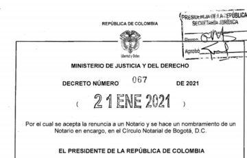 Decreto 067 del 21 de enero de 2021