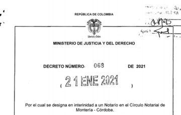 Decreto 068 del 21 de enero de 2021