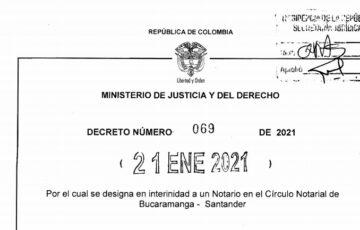 Decreto 069 del 21 de enero de 2021