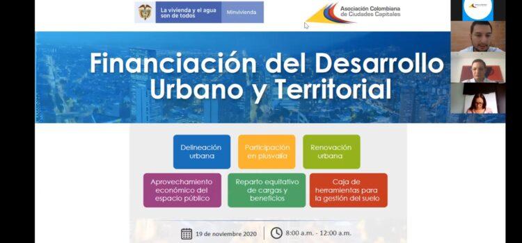 Video Foro Financiación del Desarrollo Urbano y Territorial