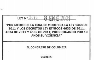 LEY 2078 DEL 8 DE ENERO DE 2021