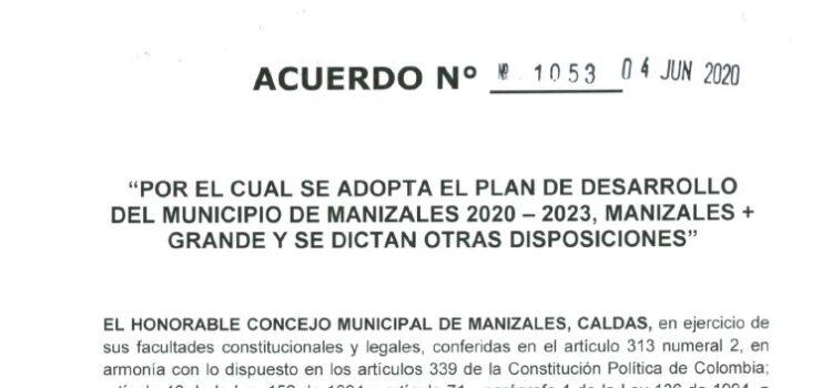 Manizales_Plan de Desarrollo Municipal_2020-2023