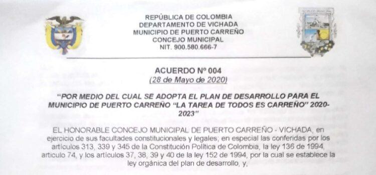 Puerto Carreño_Plan de Desarrollo Municipal_2020-2023