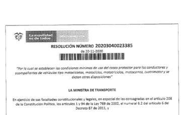 Resolución No. 20203040023385 de 2020