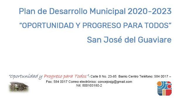San José del Guaviare_Plan de Desarrollo Municipal_2020-2023