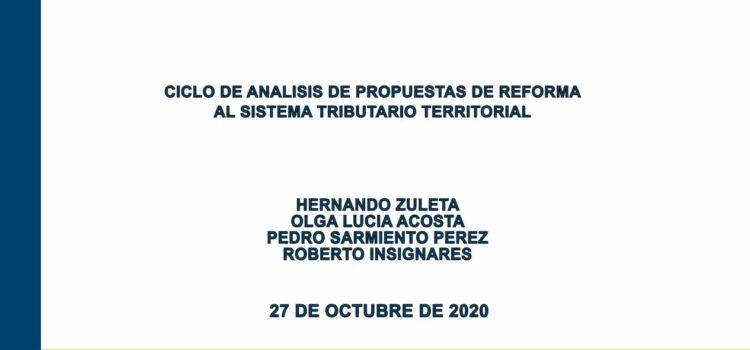 Cuarto encuentro: Ciclo de análisis de propuestas de reforma al sistema tributario territorial