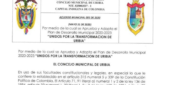 Uribia_Plan de Desarrollo Municipal_2020-2023