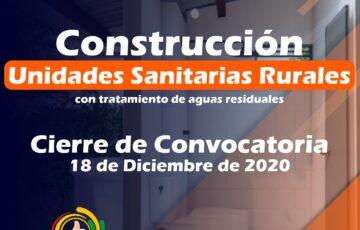 Abierta convocatoria para construcción de unidades sanitarias rurales con sistema de tratamiento de aguas residuales