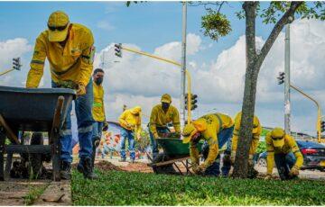 Alcaldía de Bucaramanga garantiza 209 puestos de trabajo con contrato de mantenimiento de parques y zonas verdes durante el 2021