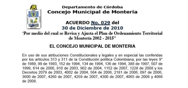 Montería_Acuerdo029_POT_2010