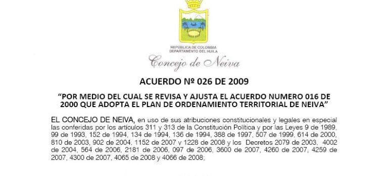 Neiva_Acuerdo026_POT_2009