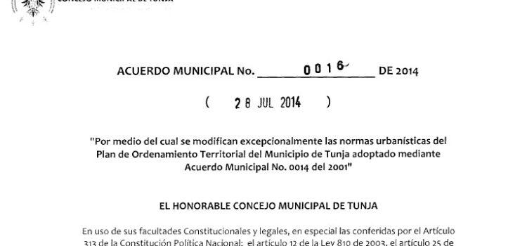 Tunja_Acuerdo 0016_POT_2014