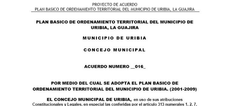 Uribia_Acuerdo016_PBOT_2001
