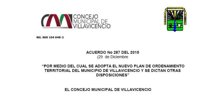 Villavicencio_Acuerdo287_POT_2015