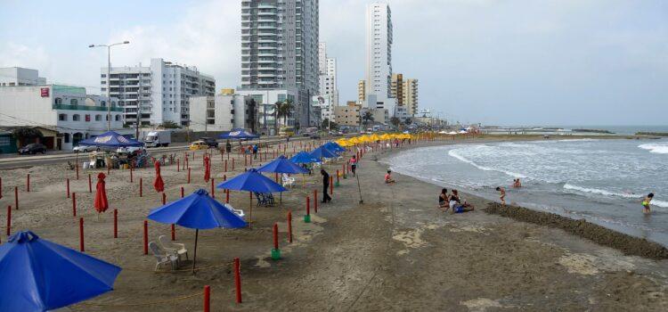 Habilitadas playas en Cartagena con uso de protocolos de bioseguridad