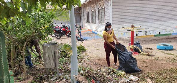 En San José del Guaviare se realizan jornadas de mantenimiento a los espacios recreativos y lúdicos