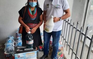 Alcaldía de Mocoa entrega kits alimentarios y de bioseguridad a 25 comunidades indígenas