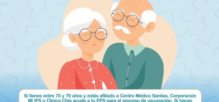Personas entre 75 y 79 años de edad, podrán acceder a la vacuna contra Covid-19 en Tunja