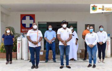 La Alcaldía de Uribia recibe donación de cilindros de oxígeno para atender pacientes con Covid19