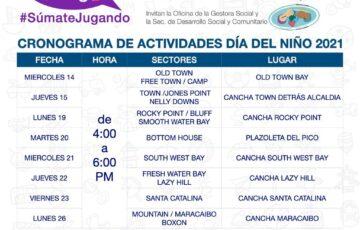 La alcaldía de Providencia se une a la iniciativa 'Súmate jugando' para celebrar el mes de la niñez