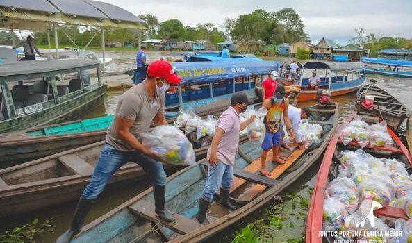 En Leticia se entregan ayudas humanitarias a comunidades indígenas