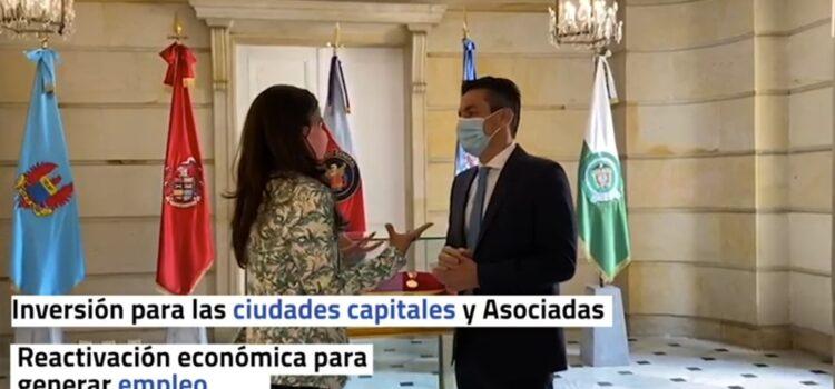 Presidente de Asocapitales y Consejera para las Regiones analizan avance de agenda conjunta para reactivación de las ciudades