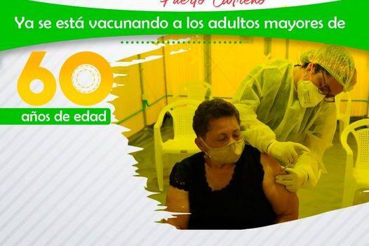 Inició la vacunación de mayores de 60 años contra Covid19 en Puerto Carreño